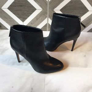 Sam Edelman black patent leather stiletto booties